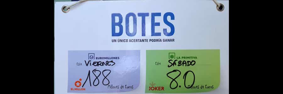 Lotería juego EuroMillones botes