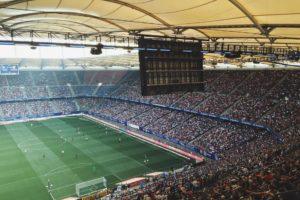 Estadio de fútbol con publico