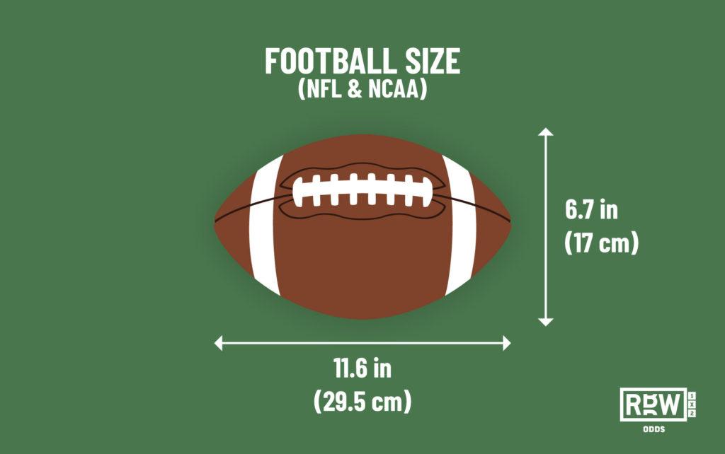 American football size